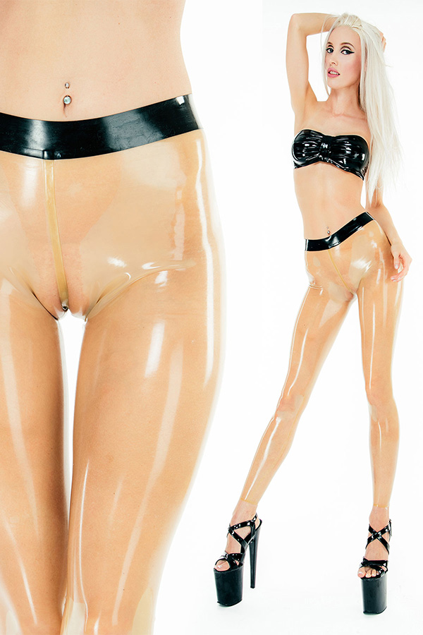 Transparente Camel Toe Latex leggings