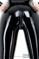 Preview: A crunchy bottom in shiny black latex with a zip closure through the crotch
