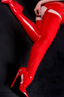 Preview: Latex stockings for suspenders To look your best you must also feel your best and we believe the wearing comfort is very important for latex stockings. They …