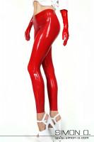 Vorschau: Latex Leggings aus dünnen Latex Hautenge Leggings aus 0.25 mm Latex gefertigt. Der doppelt eingefasste Bund gibt guten Halt und die eingefassten …