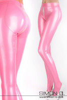 Preview: High gloss latex tights with crotch zip back and front