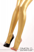 Preview: These latex leggings are equipped with our new stirrup style foot strap. The stirrup strap is free of any cross-seams for your comfort and visually lengthens …