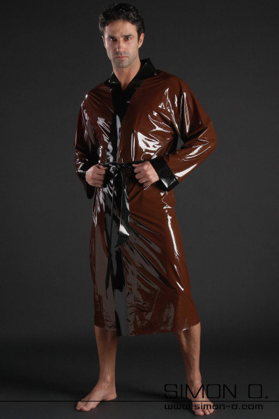 Latex bathrobe for him made of fine cuddly latex