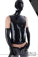 Vorschau: Ein Mann trägt eine schwarzes Latex Shirt mit angearbeiteter Latex Maske