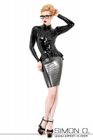 Preview: An exquisite figure-hugging latex skirt which reaches down to the knees. Strictly speaking the latex pencil skirt consists of two different skirts - the …