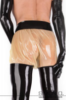 Preview: Latex short for golden shower games in transparent with black