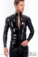 Preview: Men's latex shirt with dividable zipper Long-sleeved latex shirt with a dividable zipper and a stand-up collar. This plain yet beautifully handcrafted …