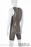 Preview: Latex body for men with genital opening or condom This skintight latex body for men can be worn discreetly under conventional clothing without attracting …
