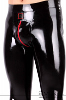 Preview: Latex leggings with reinforced waistband and zipper in the crotch area. Genital area anatomically shaped