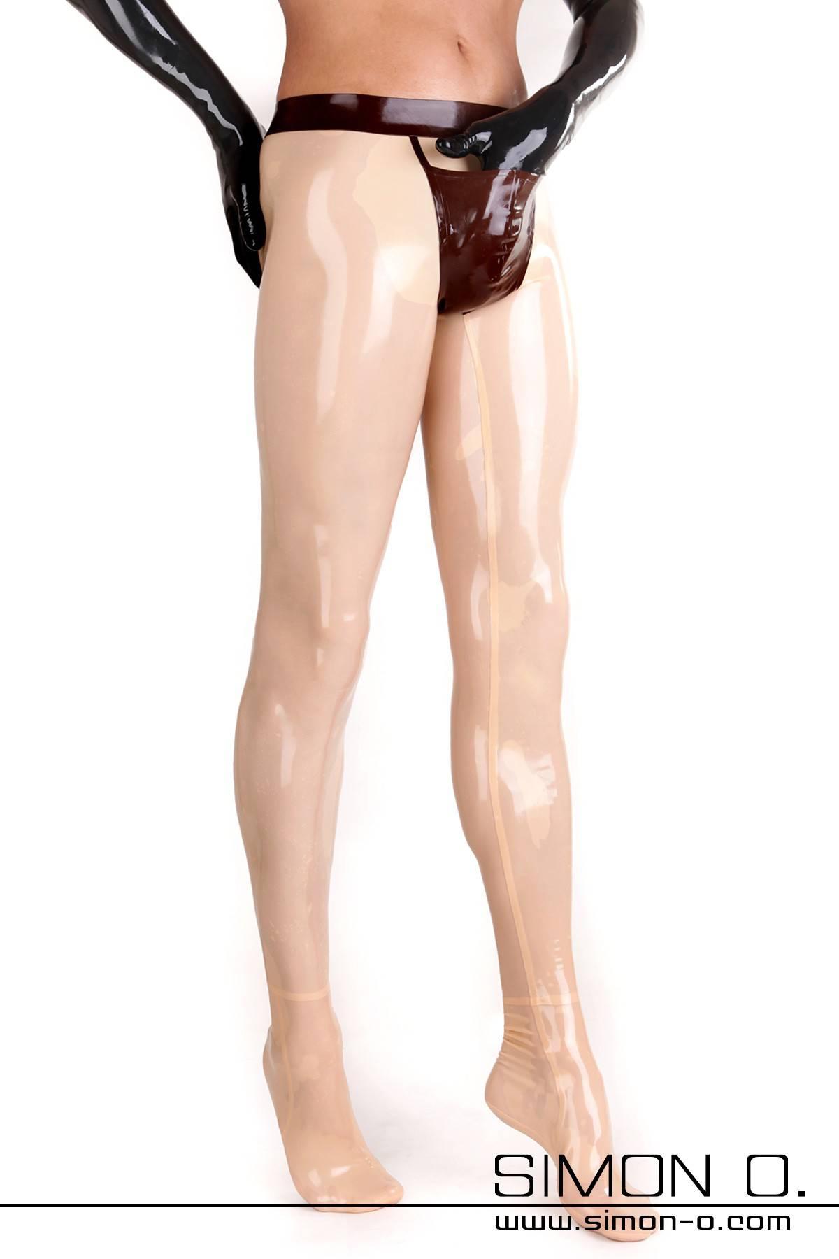 Hautenge Herren Latex Strumpfhose mit praktischen schön gestalteten Eingriff vorne Ein Zipp im Analbereich oder ein Analkondom ist bei diesem Modell möglich. …