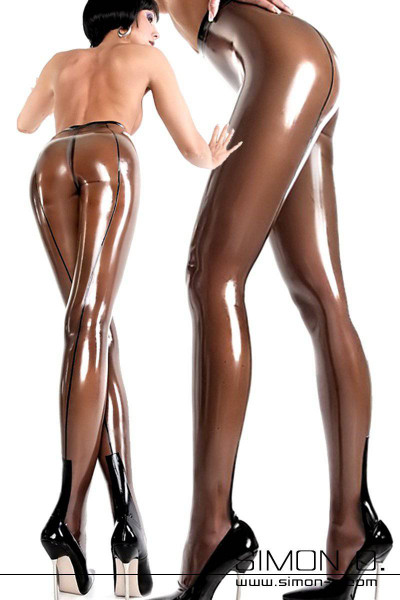 Ladies' fine latex pantyhose with highly erotic backseam and Cuban heel. Enjoy the fine latex material and feel the wearing sensation with these stunning …