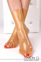 Vorschau: Latex Socken in transparentem glänzenden Latex