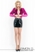 Preview: Sexy latex mini skirt This model is a skin tight, sexy latex mini skirt from our Basic-Line collection. This latex skirt with a total length of 39 cm, is made …