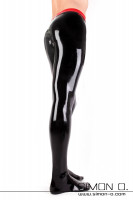 Preview: Men's latex tights with a removeable codpiece made out of our finest latex. Within these comfortable to wear fine latex pantyhose, you can choose to …