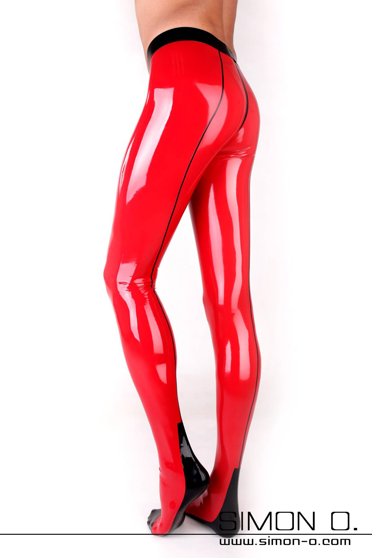 Skin tight Latex tights with sexy seam and Cuban Heel The waistband of these luscious latex pantyhose is reinforced and double edged. The seam in the butt …