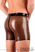 Vorschau: Latex Shorts aus feinstem Latex Herren Latex Short mit längeren Beinansatz für noch mehr Latex Feeling und Tragekomfort. Diese Latex …