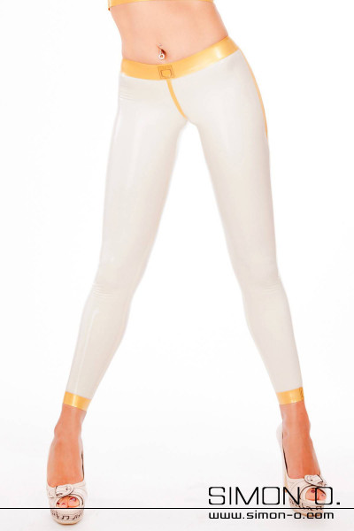 "This special pair of skin-tight latex leggings captivates all who admire you as you wear them with its sexy ""Cameltoe-Effect"". These leggings are …"