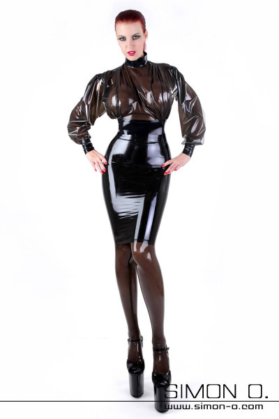 Knee Length Latex Pencil Skirt with Reinforced Waistband This gorgeous knee length latex skirt has an anatomically shaped buttock area for a perfect fit. All …