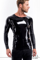 Preview: Tight latex shirt with round neckline and long sleeves For inexperienced fetishists it might be a little bit harder to get in and therefore we simply …