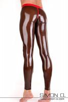Vorschau: Sexy Herren Leggings aus Latex mit praktischen schön gestalteten Eingriff vorne Der Bund dieser Leggings ist verstärkt und doppelt umrandet. Ebenso die Naht …