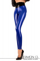 Vorschau: Latex Leggings mit hoher Taille Hautenge Latex Leggings mit verstärktem 10 cm hohen Bund. Als Option ist bei dieser Latex Leggings natürlich ein Zipp im …