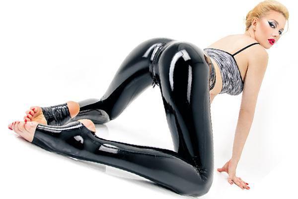 Latex Legging mit Zipp im Schritt