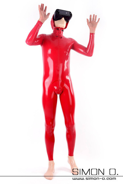Men's Latex Suit With Hood in Sinful Red You'll love our very stretchy latex suit for men in sinful red with hood and zipper in the crotch. …