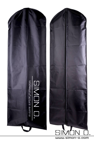 Black extra long garment bag with 160 cm length for storage of latex clothes by Simon O.