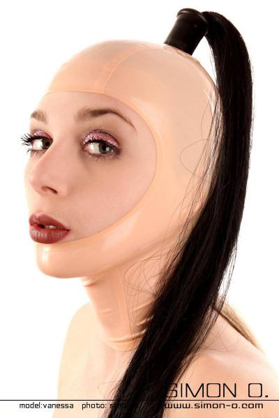 Latex Maske gesichtsoffen mit Vorbereitung für 1 Haarteil Dieses Modell mit einem verstärkten Loch ermöglicht es Ihnen unsere wechselbaren unterschiedlichen …