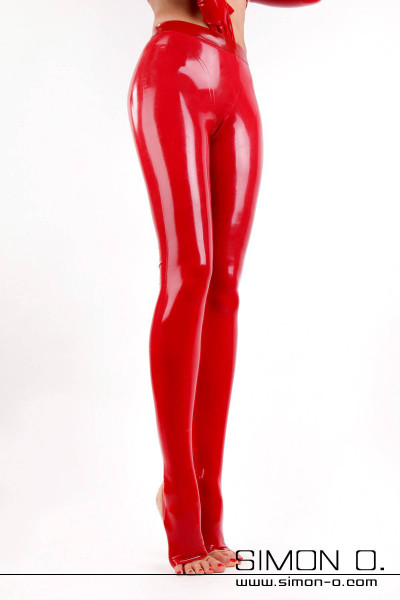 Latex leggings with open toe- and heel-sections Our new latex leggings with stirrups captivate through their brand-new curve enhancing cutting pattern and …