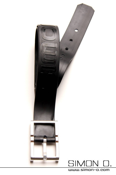 Elaborately worked belt made of thick latex with an integrated textile band for added reinforcement. The total thickness of this belt is 3 mm and it comes …