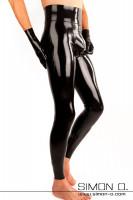 Vorschau: Herren Latex Leggings mit Push up Effekt - extra hoher Bund Herren Latex Leggings mit durchgehendem Zipp im Schritt und Push Up für Po und Genitalbereich. …