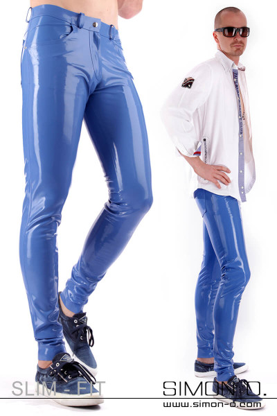 Slim Fit Men's Latex Jeans with Pockets These elaborately crafted latex jeans will convince you in every line. Available in a variety of colours and on …