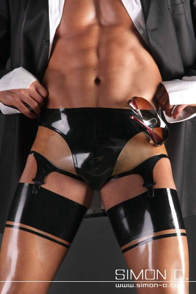 Latex Short mit Strapshalter Herren Latexshort mit perfekter Passform und sehr angenehmen Tragekomfort ausgestattet mit 4 Strapshaltern welche für alle …