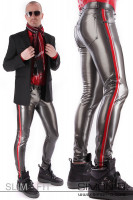 Preview: Men's latex jeans with pockets These latex trousers will conform to your body in every line. Available in many colours. With the contrasting colour, you …