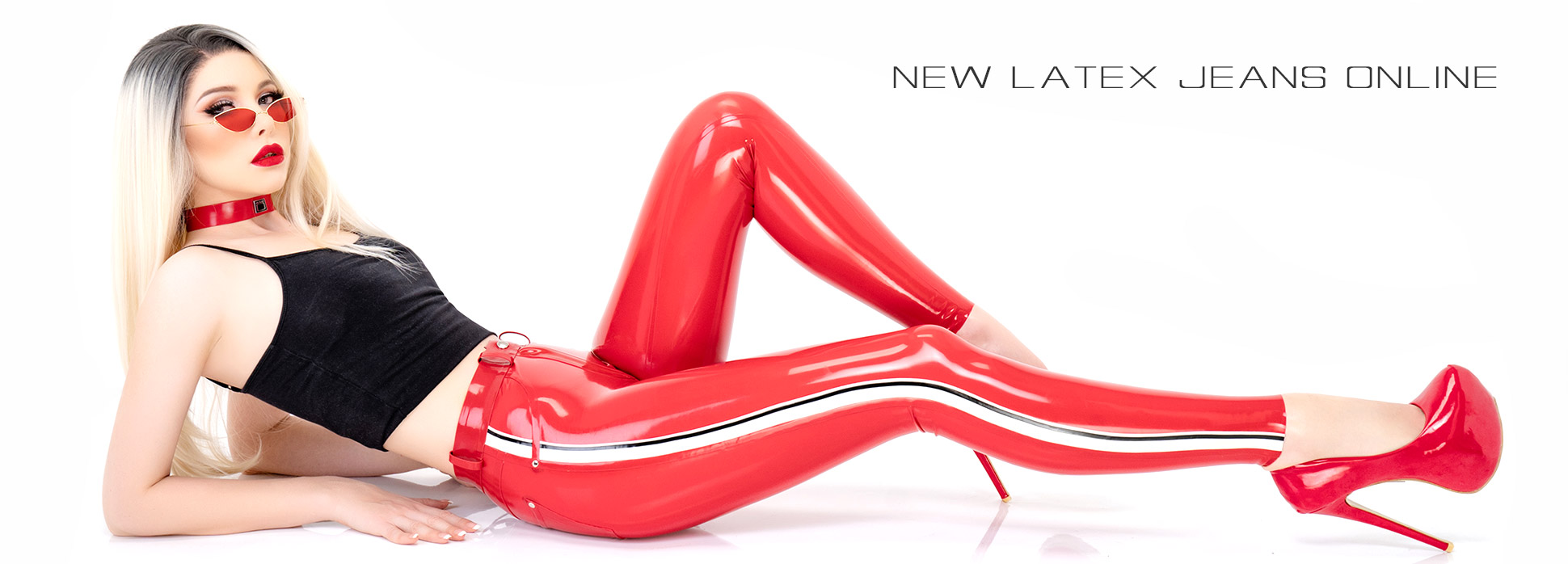 New tight shiny women latex pants online