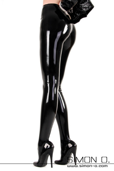 This paid of ultra-glossy rubber tights has a particularly soft feel while wearing. Made of thin rubber material, the skin-tight pantyhose hugs tightly around …
