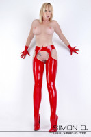 Preview: Latex stockings with built in suspenders Latex stockings with cut away sections which give the appearance of built in suspenders. This leaves the crotch and …