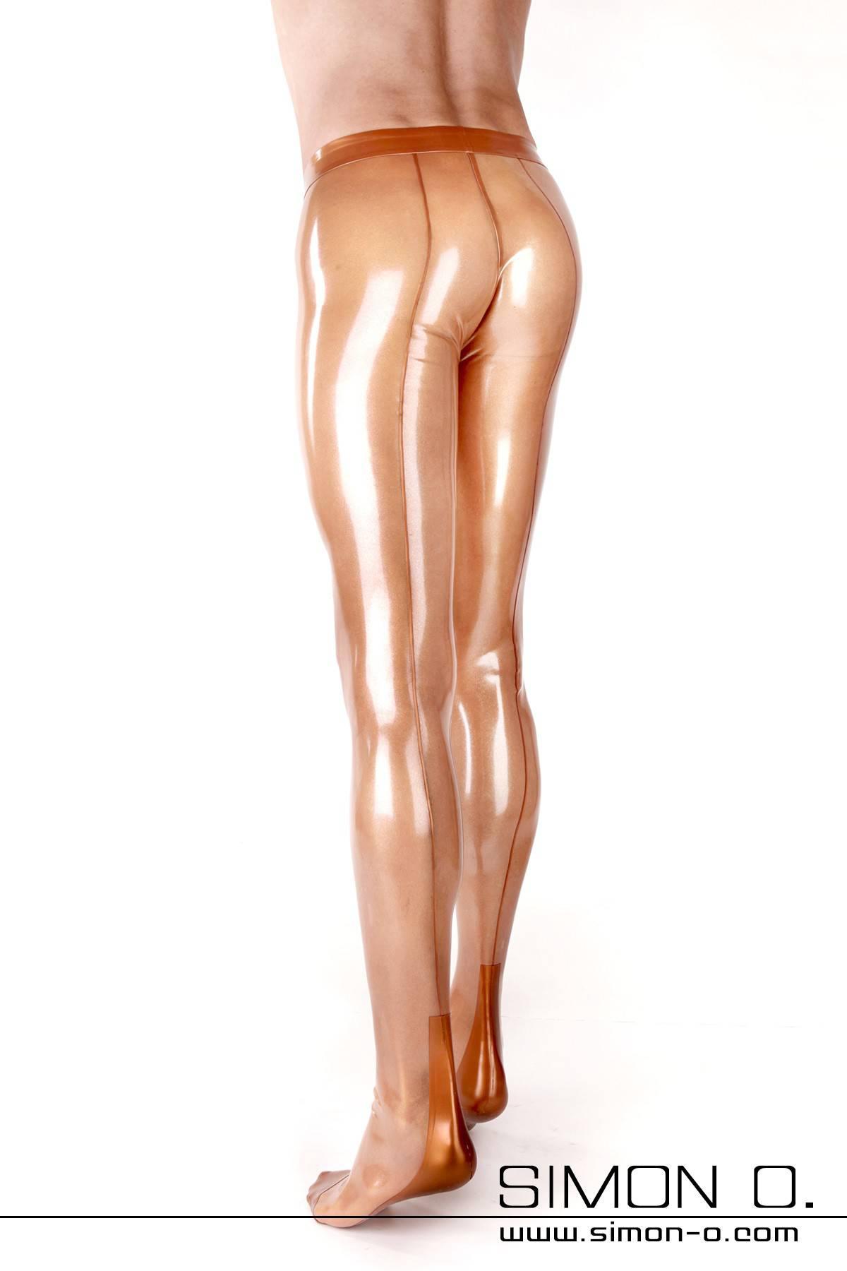 Hautenge Herren Latexstrumpfhose mit Naht und Hochferse Praktischer Eingriff vorne. Ein Zipp im Analbereich oder ein Analkondom ist bei diesem Modell …