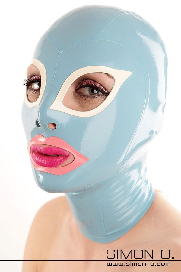 Latex mask with cat eyes