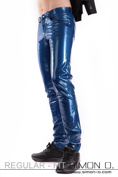 Regular Fit Men's Latex Jeans with Pockets These elaborately crafted latex jeans will convince you in every line. Available in a variety of colours and …