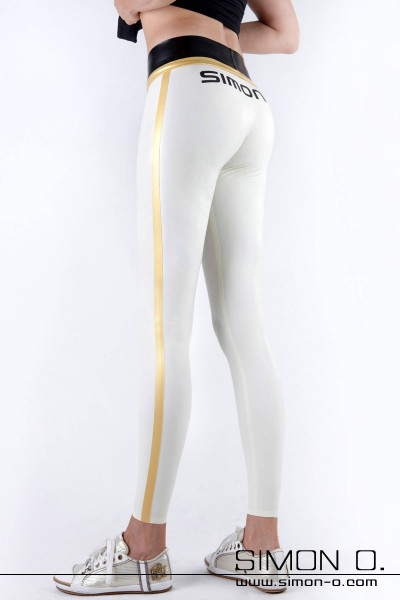Streetwear Latex Leggings - sportlich - sexy - glänzend Die hautenge dreifarbige Latex Leggings ist ein vielseitiges Modell, das Du von sportlich bis elegant …