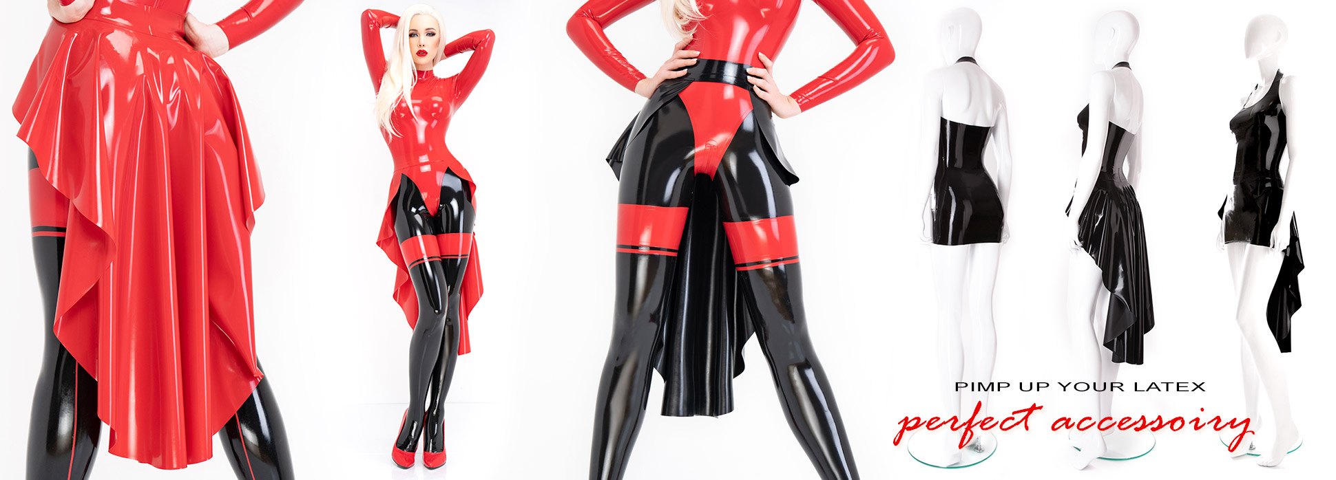 Latex train to combine with latex clothing