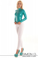 Preview: Latex top with long sleeves and divisible zipper Latex top with long sleeves and separable zipper. The elegant princess cut of this design makes this latex …