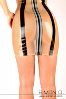 Vorschau: Latex Minikleid mit Brustzipper Dieses aufregende Latex Minikleid hat im Brustbereich eingearbeitete Reißverschlüsse welche sich bei Bedarf öffnen lassen. Im …