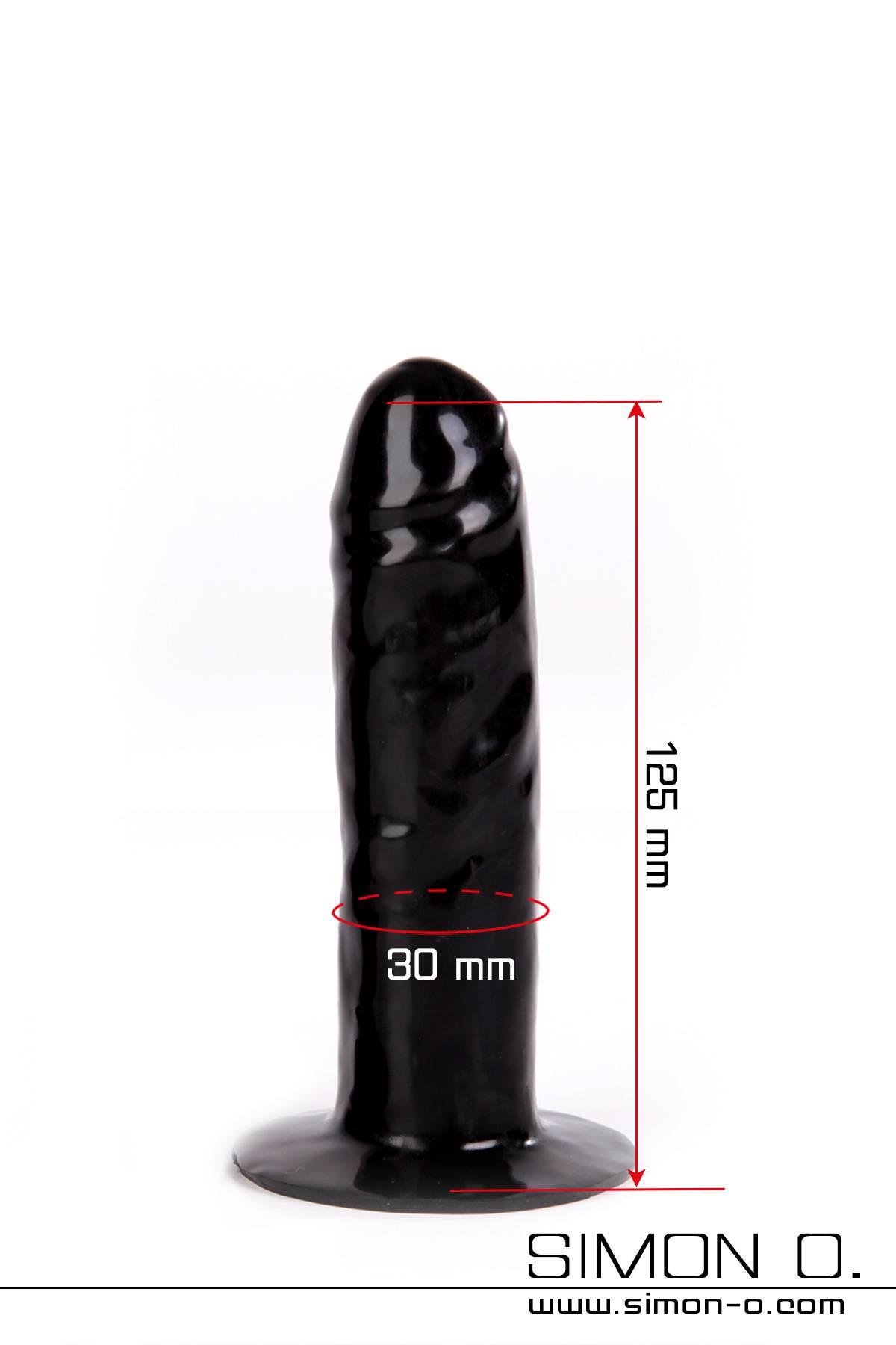 Latex Dildo mit festen Kern zum einkleben in Latex Kleidung