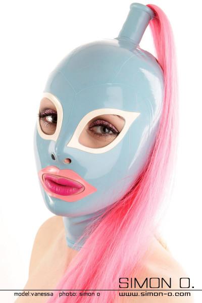 Latex Maske mit Katzenaugen vorbereitet für 1 Haarteil Durch die Mund und Augen Form wirkt die Latex Maske besonders erotisch und sinnlich. Daher ist die …
