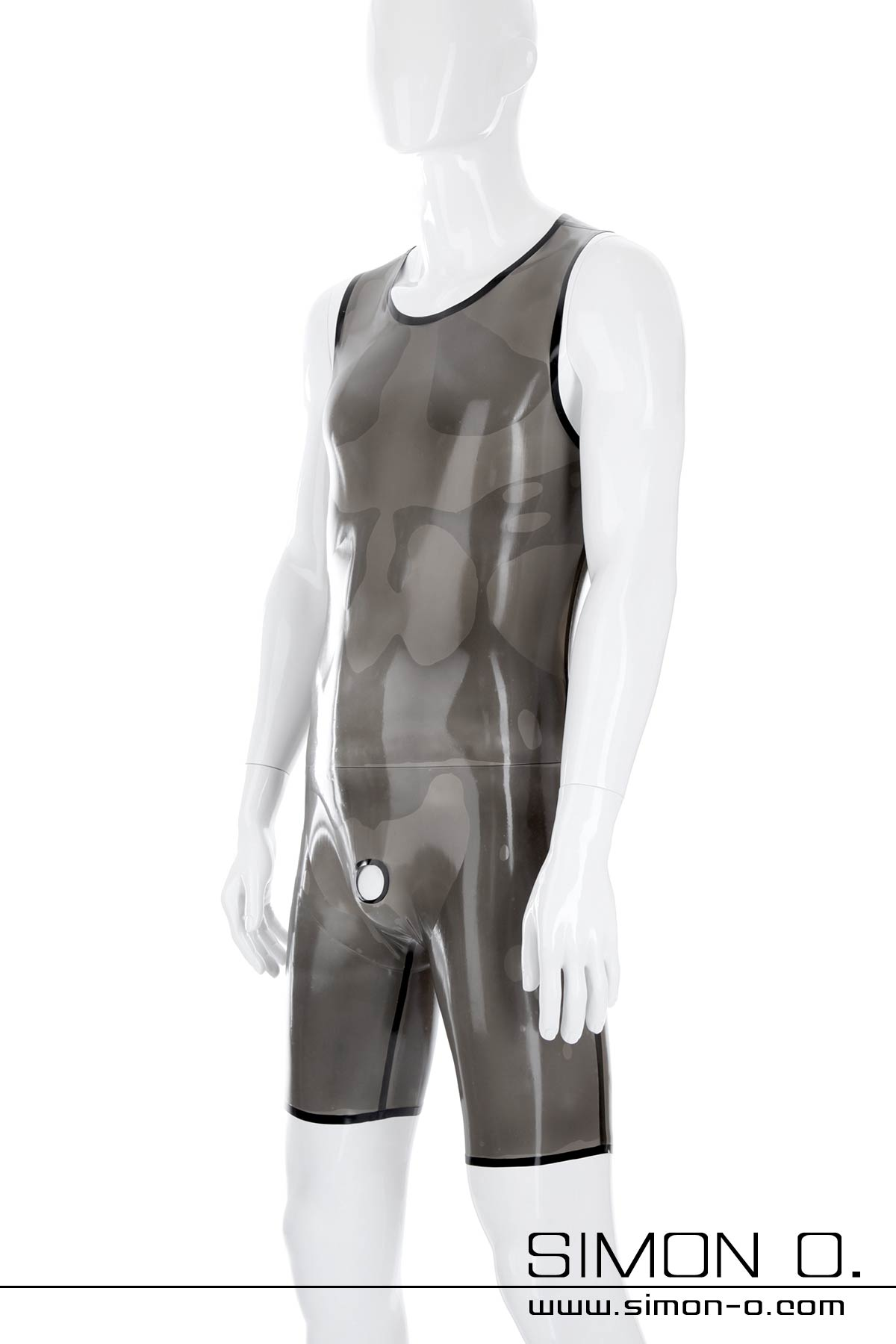 Latex body for men with genital opening or condom This skintight latex body for men can be worn discreetly under conventional clothing without attracting …
