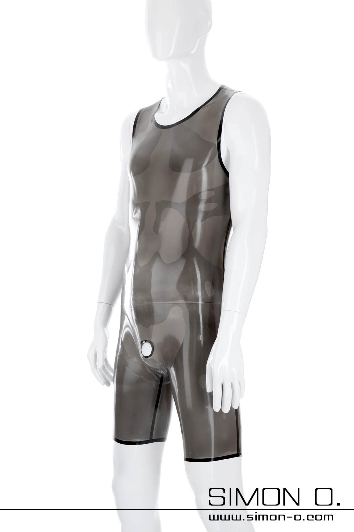 Latex Body für Herren mit Genitalöffnung oder Kondom Dieser hautenge Latex Body für Herren kann diskret unter herkömmlicher Kleidung getragen werden, ohne …
