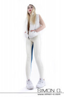 Preview: Skin tight latex breeches in blue white with crotch zip